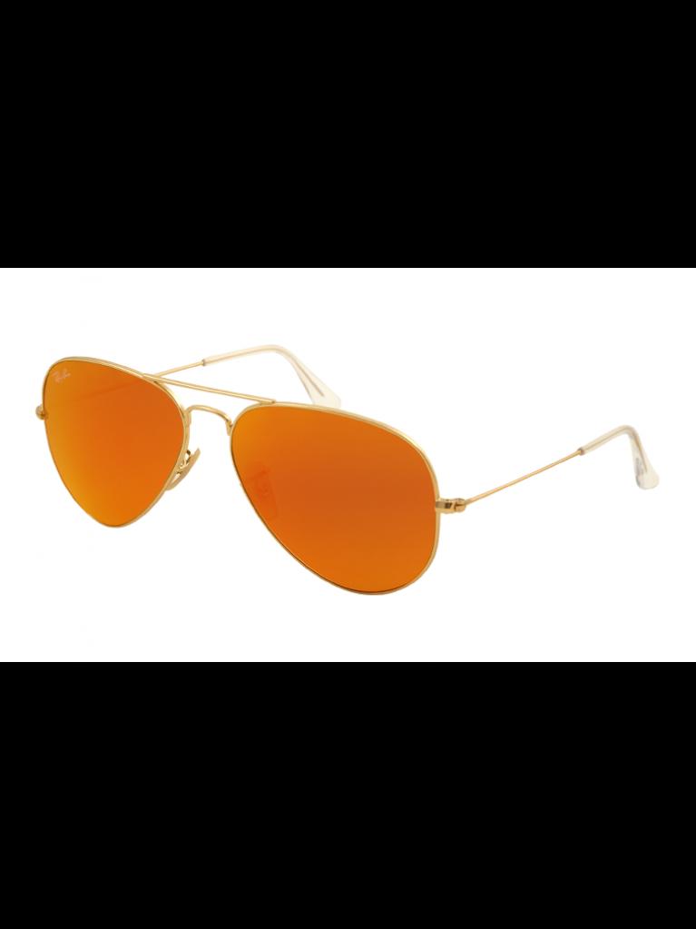 6f8547e01c986 Ray Ban 3025-112 69 Aviator Large metal, size 58mm, frame gold, lenses   orange mirror